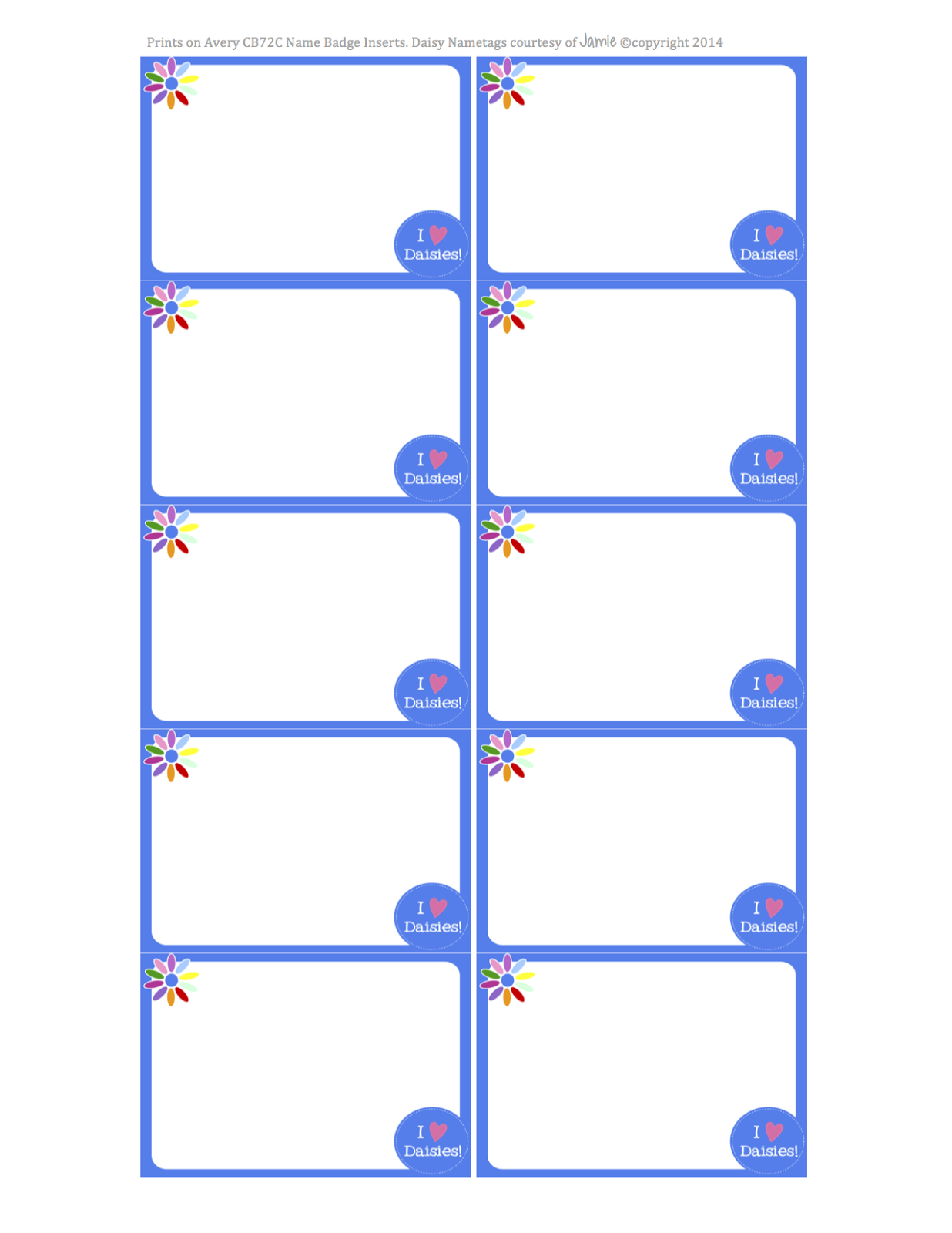 FREE Printable Girl Scouts - Daisies Stationery - Word Format
