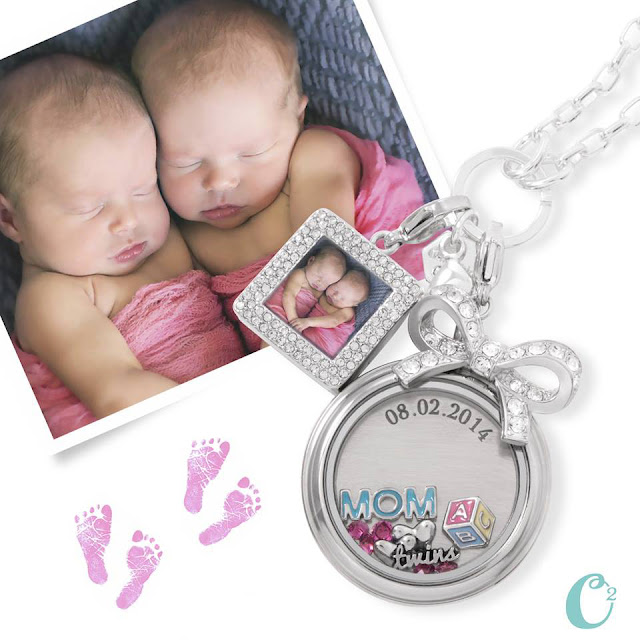 Origami Owl Living Locket for Mom of Twins! Available at StoriedCharms.com