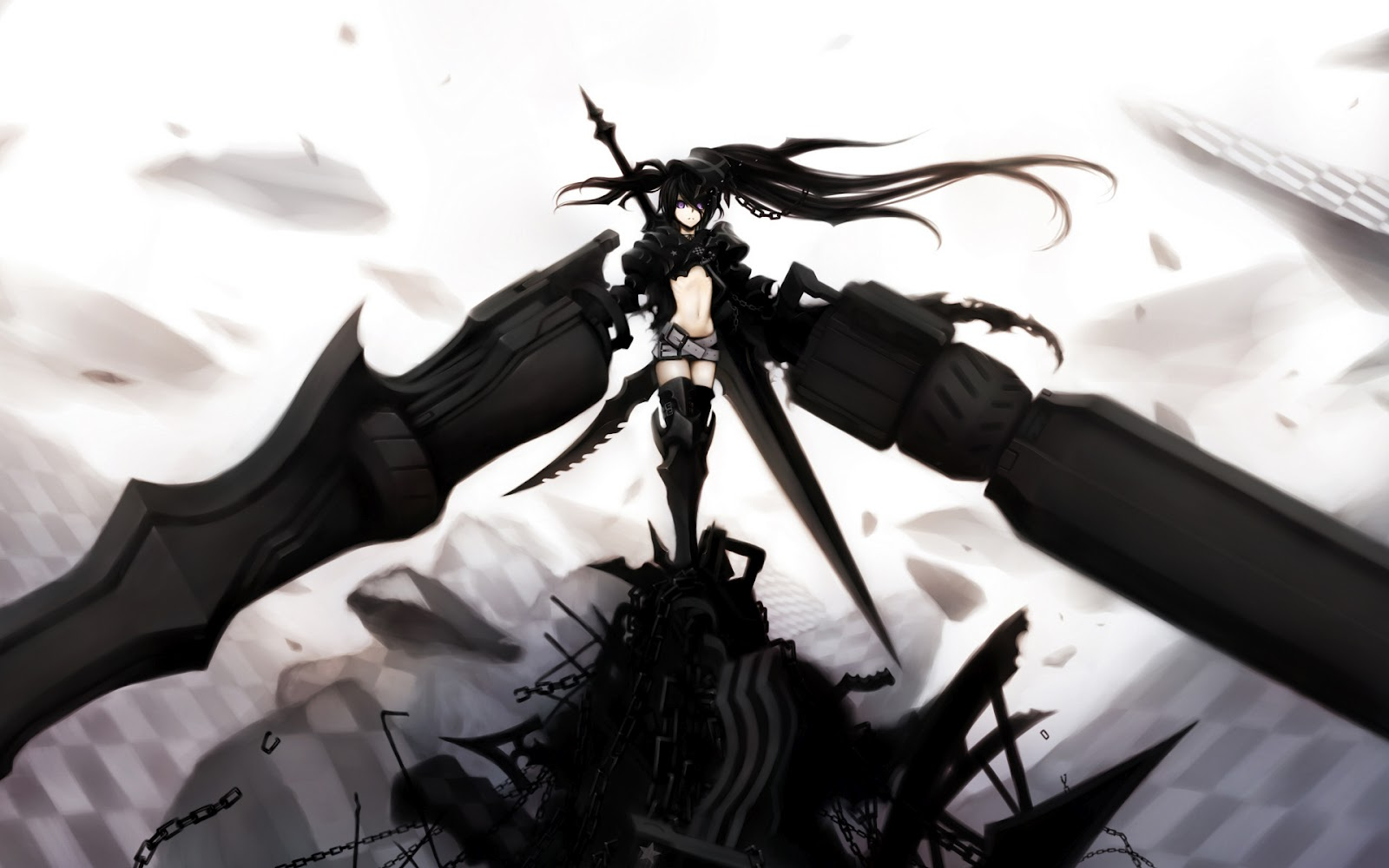The Zeonic Geofront Black Rock Shooter Anime Impressions