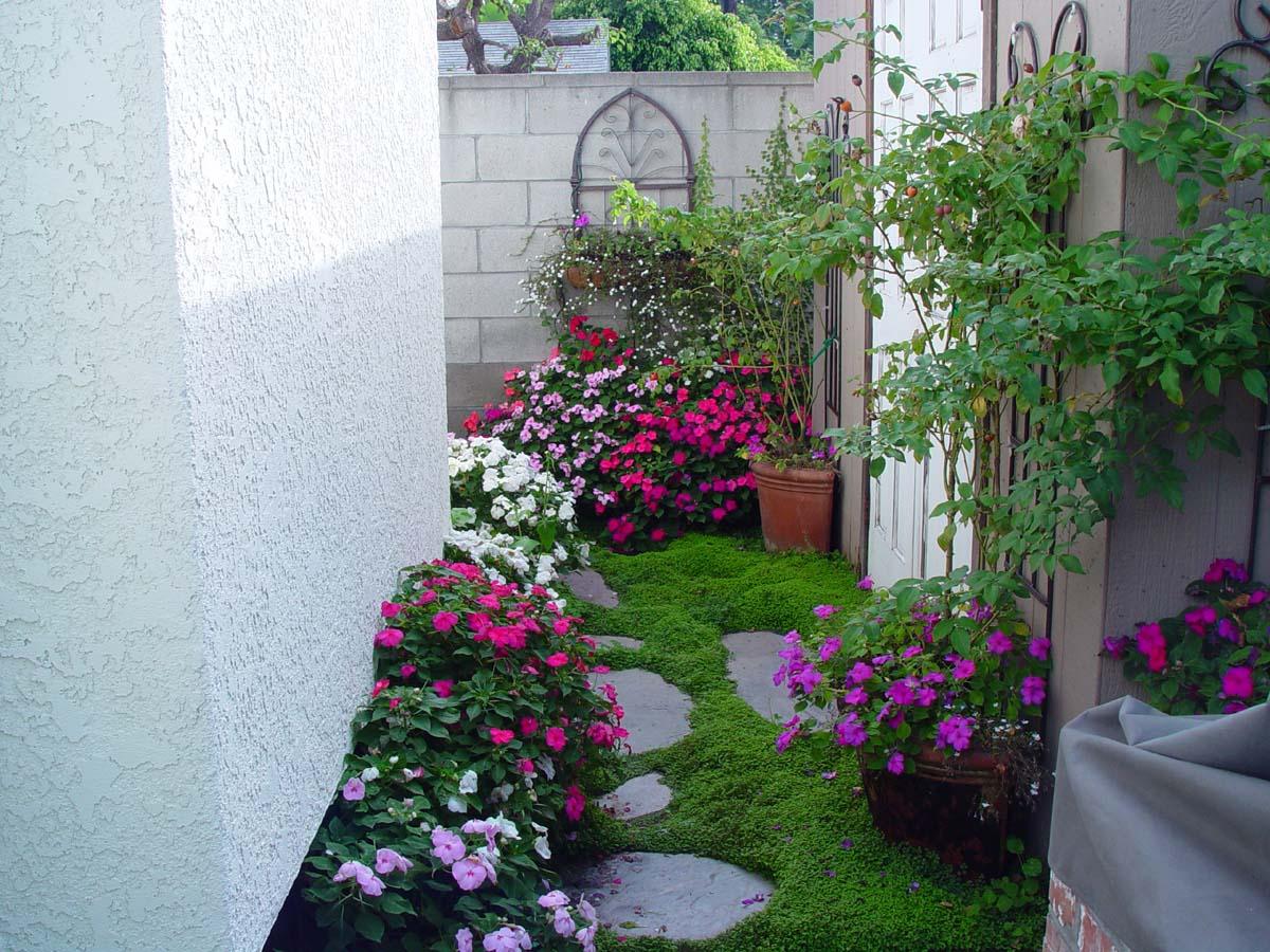 Jardins externos ap em decora o Jardines verticales para patios pequenos