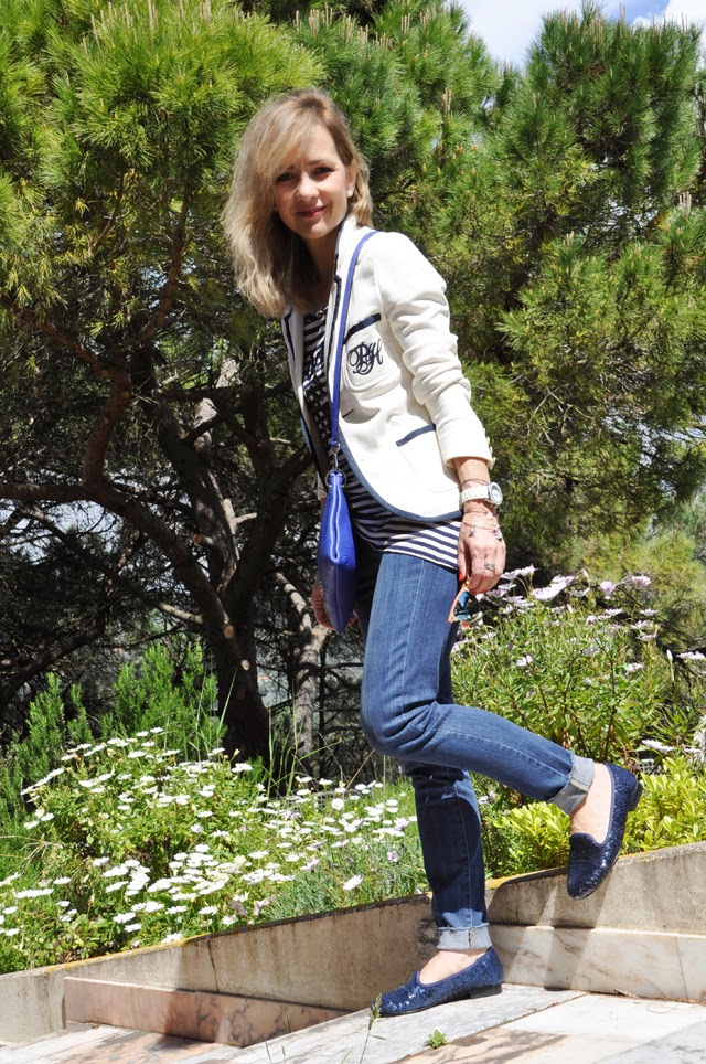 How to wear sailor style   como llevar  chaqueta marinera