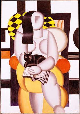 Fernand Léger - femme avec un chat,1921.