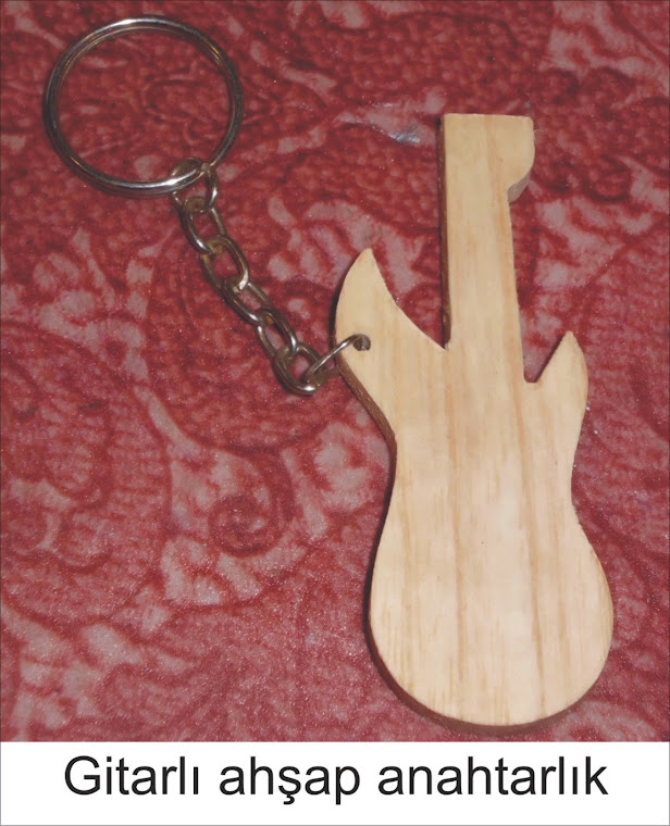 gitarlı ahşap anahtarlık 75 kuruş + kdv