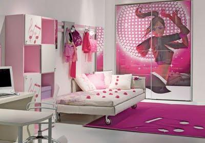 Decora el hogar cuartos color rosa para adolescentes for Cuartos de ninas color rosa