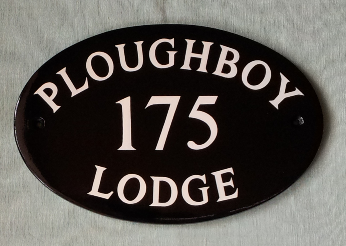 hand painted house signs by ceramic art house sign with. Black Bedroom Furniture Sets. Home Design Ideas