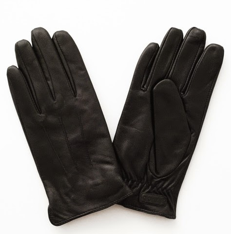 Glovely Men's Leather Touch Screen Gloves