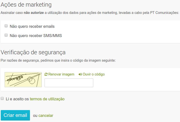Como registar grátis um email SAPO