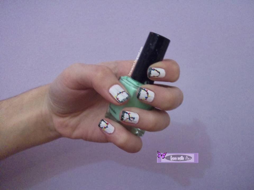 Nail art paso a paso luces de navidad Lara Nails