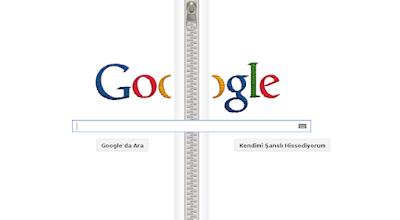 Google Gideon Sundback'in 132. Dogum Gunu Logosu