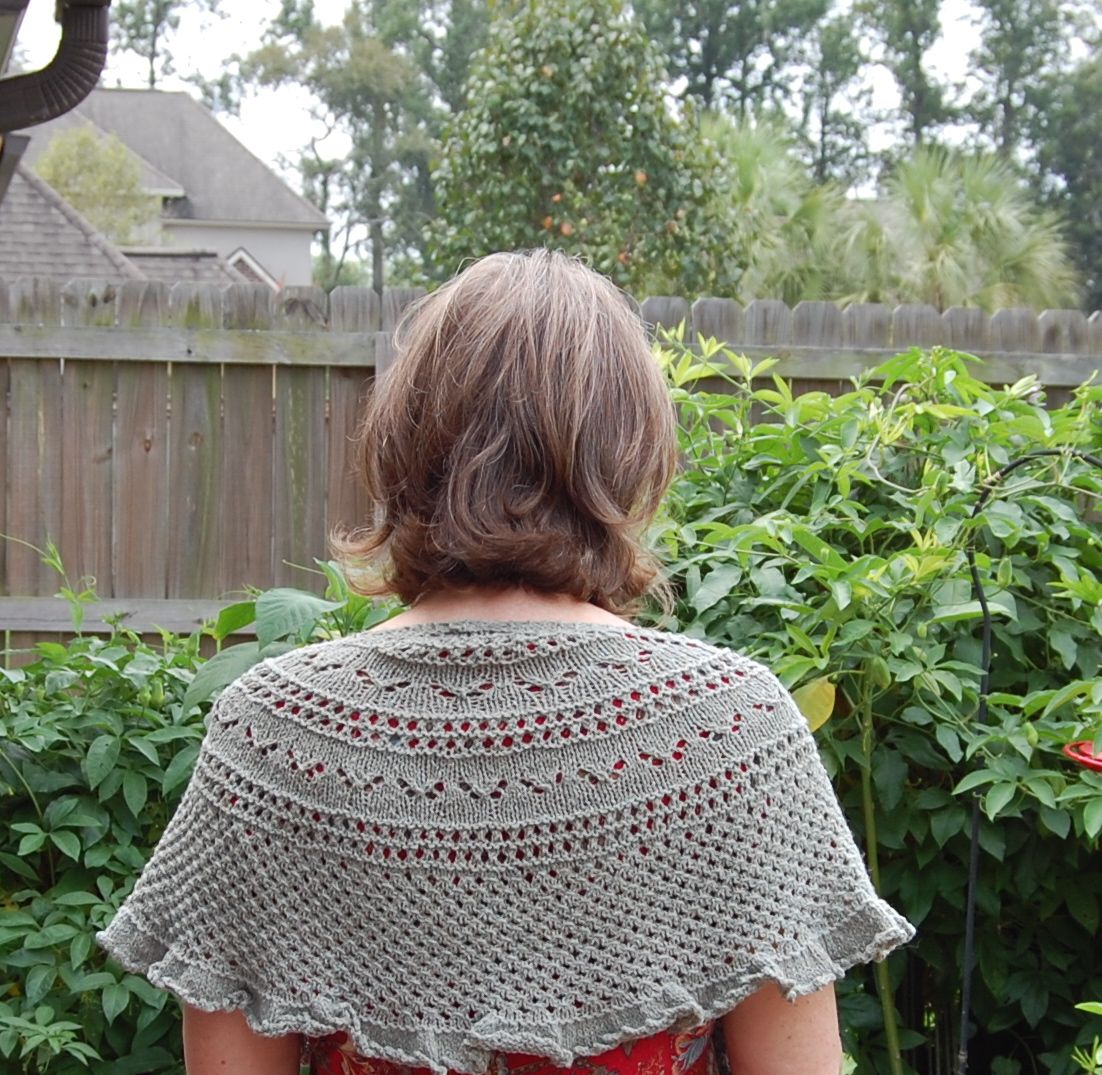 The Old Fashioned Baby Sewing Room: My Beautiful Knitted Shawl.