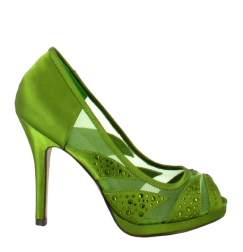 zapato verde para novias Menbur