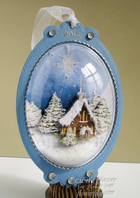 Flower Soft - Christmas Snow Globe Ornament