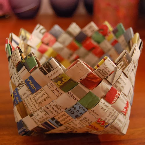 Diy newspaper basket1
