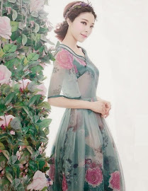 Spring 2014 New Release: Oriental Collar Bell Sleeve Vintage Rose Dress