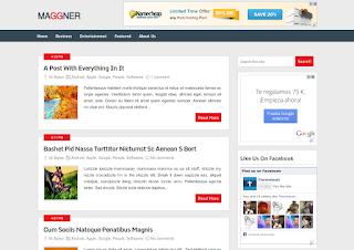 Maggner Blogger Template