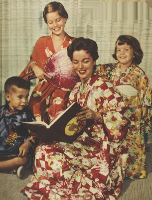 Shirley Temple with her children Charley, Susan and Lori in 1958