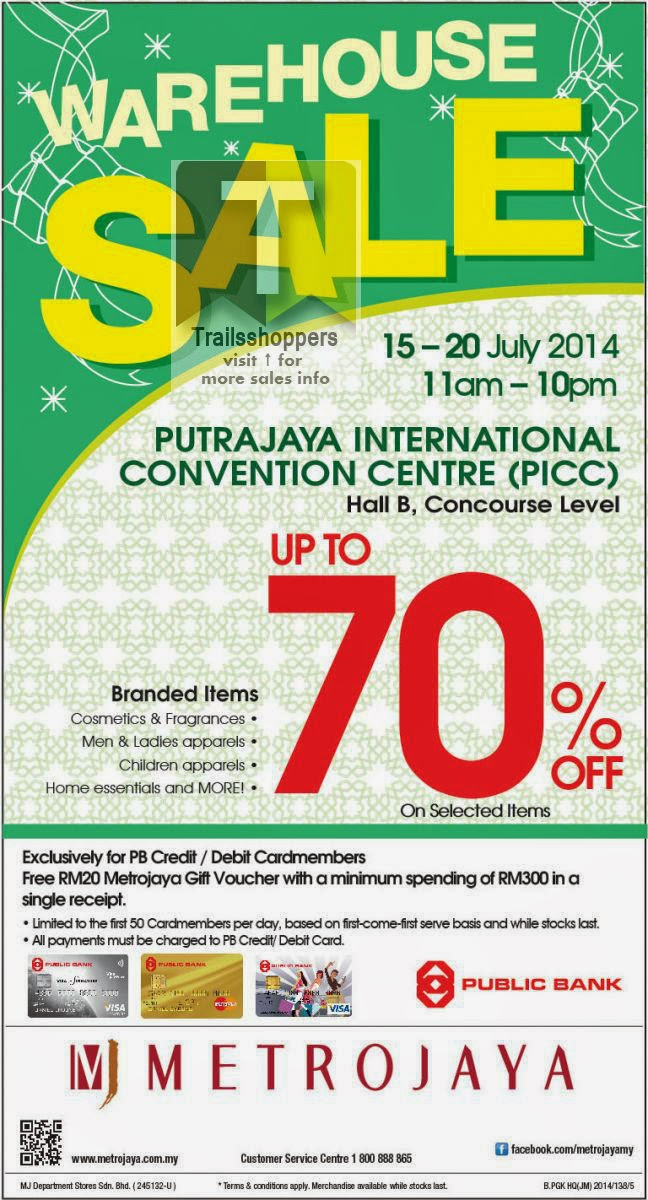 Metrojaya Warehouse Sale Putrajaya International Convention Centre