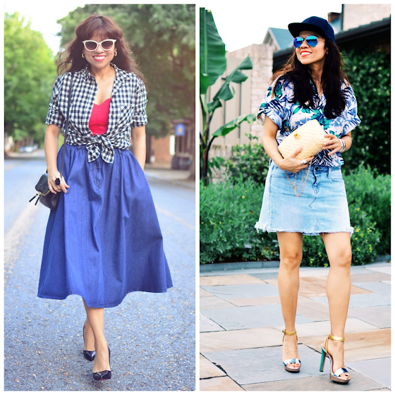 How to wear denim skirts