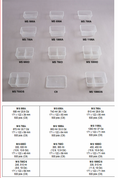 RECTANGLE MICROWAVEABLE CONTAINER