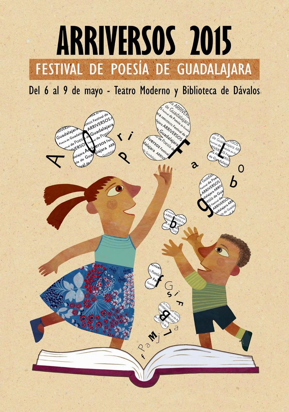 Arriversos, festival de poesía, Guadalajara, Susana Rosique, cartel, ilustración