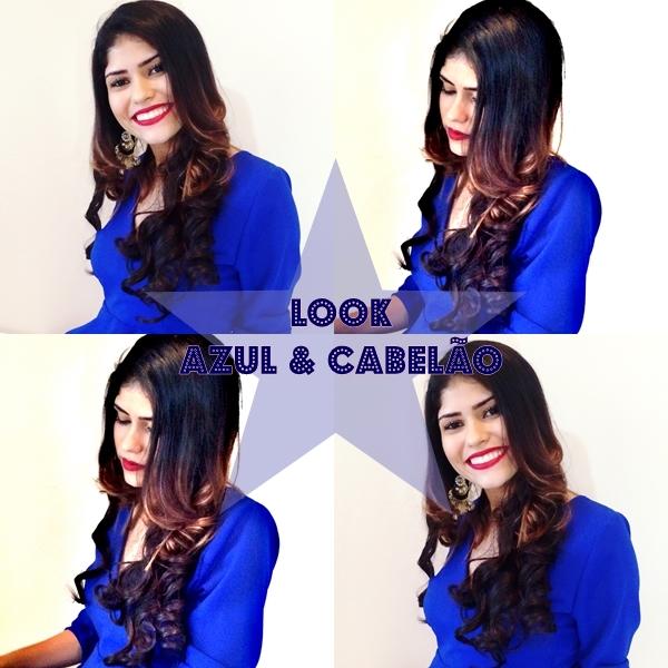 Look: Azul e Cabelão ♥