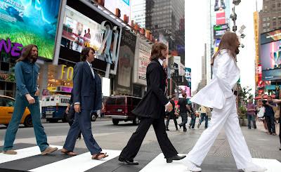 Abbey Road на Times Square в Нью-Йорке