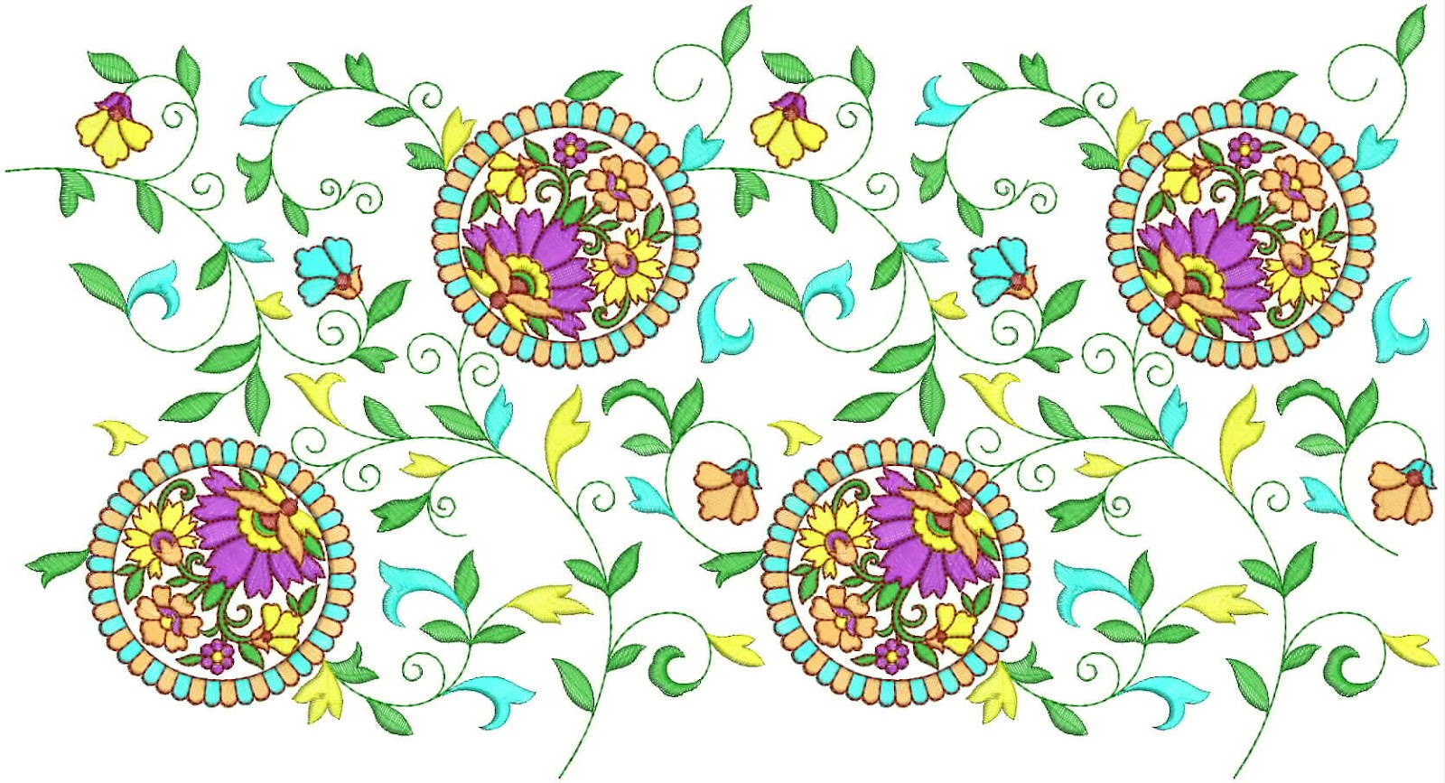 Embdesigntube border embroidery designs for chiffon silk Fashion embroidery designs