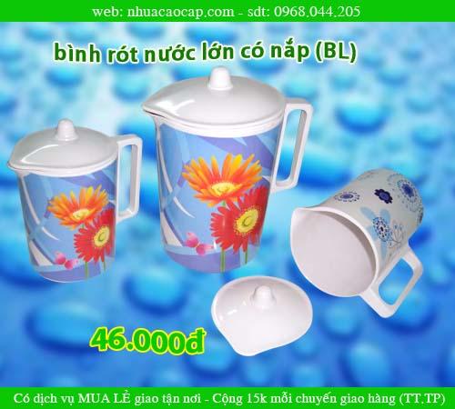 Bình nước, Bình nhựa rót nước có nắp, Ca rót nước, bình nhựa lớn