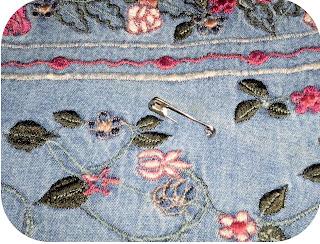 ProsperityStuff Denim Jeans Quilt Pin