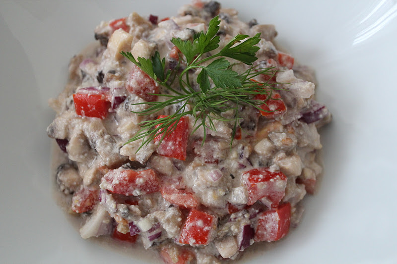 Салат из шампиньонов свежих рецепт с фото