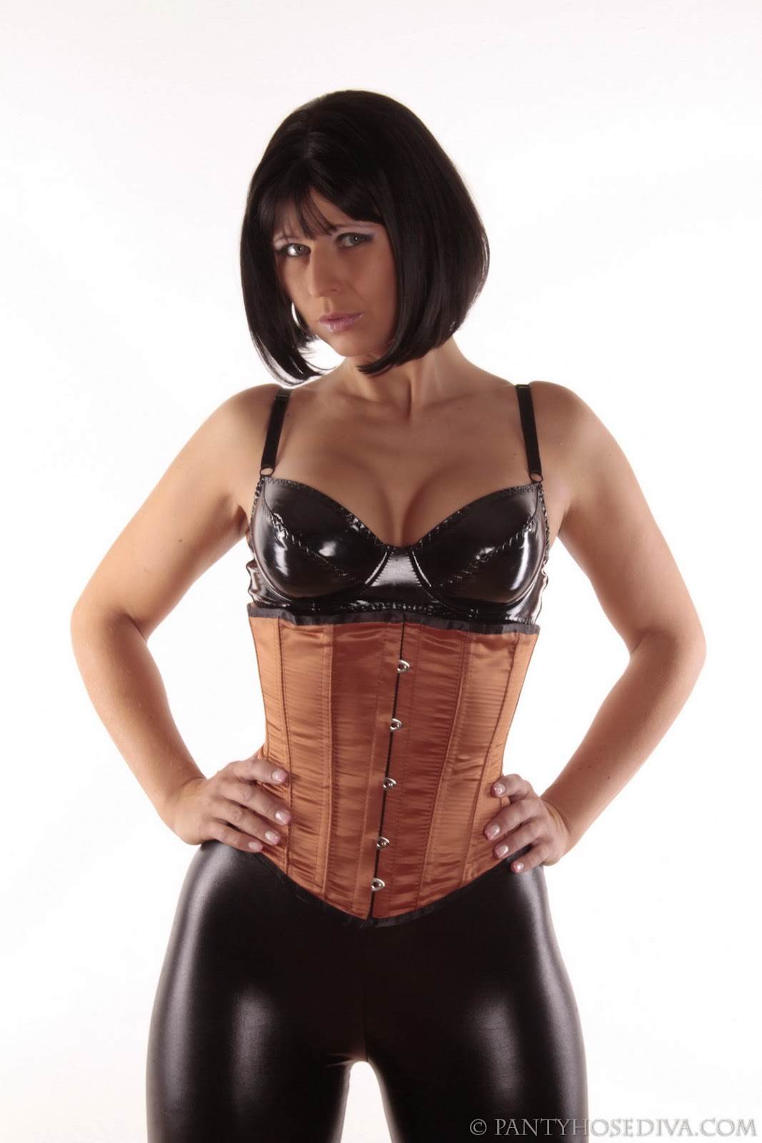 In corsets women leather