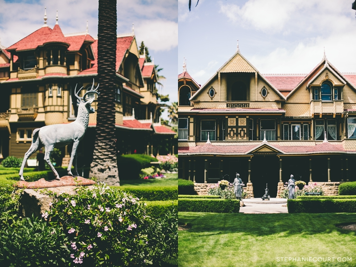 """winchester mystery house front lawn"""