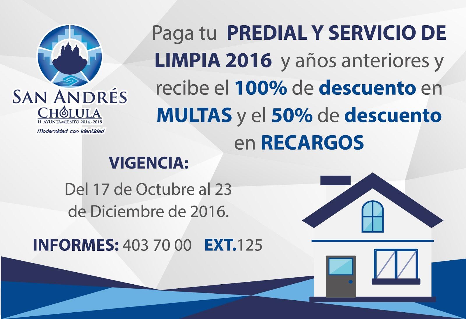 San Andrés Cholula facilita el pago de predial