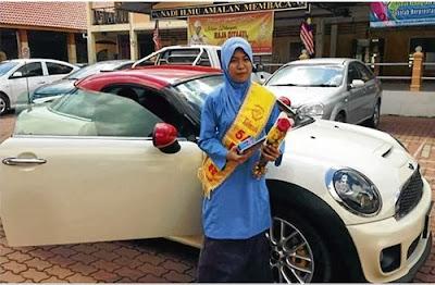 Siti Nur Fatini Zulaika Dapat Hadiah Kereta Mini Cooper Cemerlang 5A UPSR