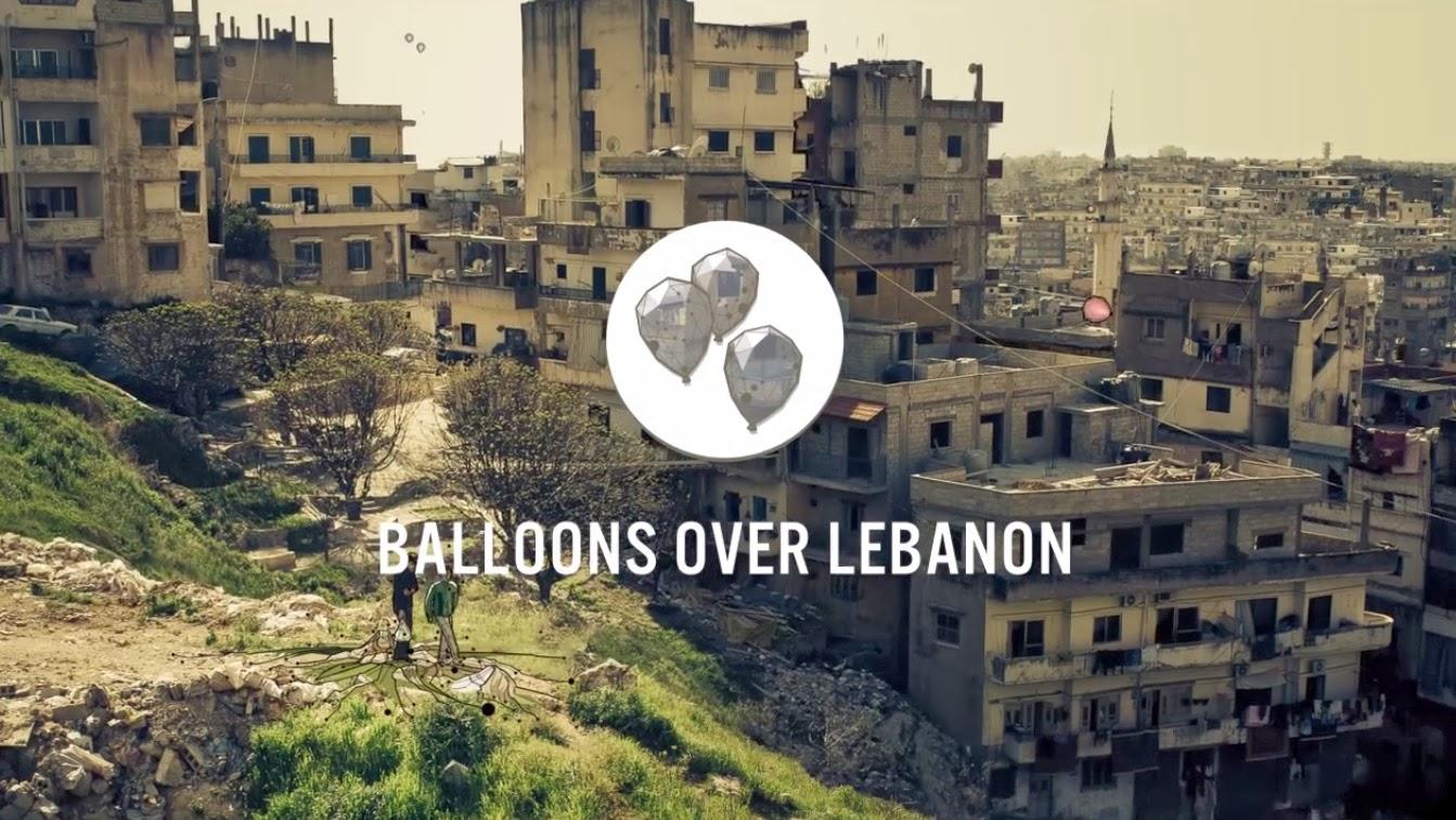 nuncalosabre.Balloons Over Lebanon (Globos sobre el Líbano) - Postaganda