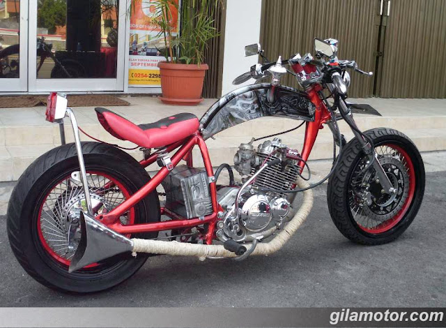 Foto Modifikasi Suzuki Thunder 125 2006 Model Chopper