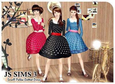 Small Polka-Dotted Dress by JS Sims 3 03