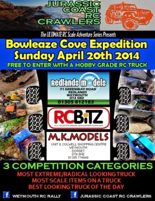 Jurassic Coast RC Crawlers Bowleaze Cove Easter Sunday 20th April 2014