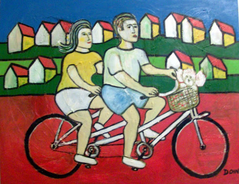 casal de bicicleta
