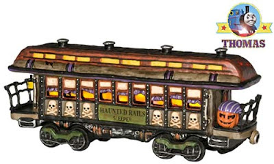 Railway Model Collectible Village Halloween 10th Anniversary Troubled Rails Passenger Car Lit House