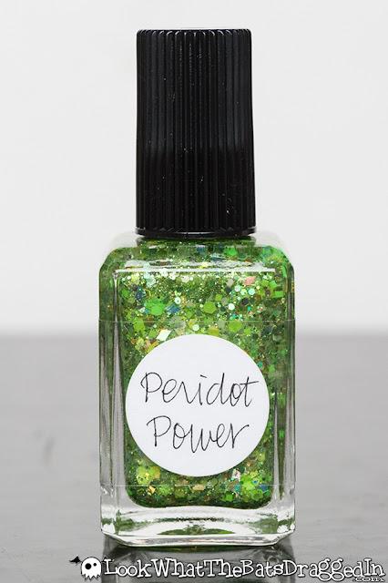 Lynnderella nail polish manicure peridot power