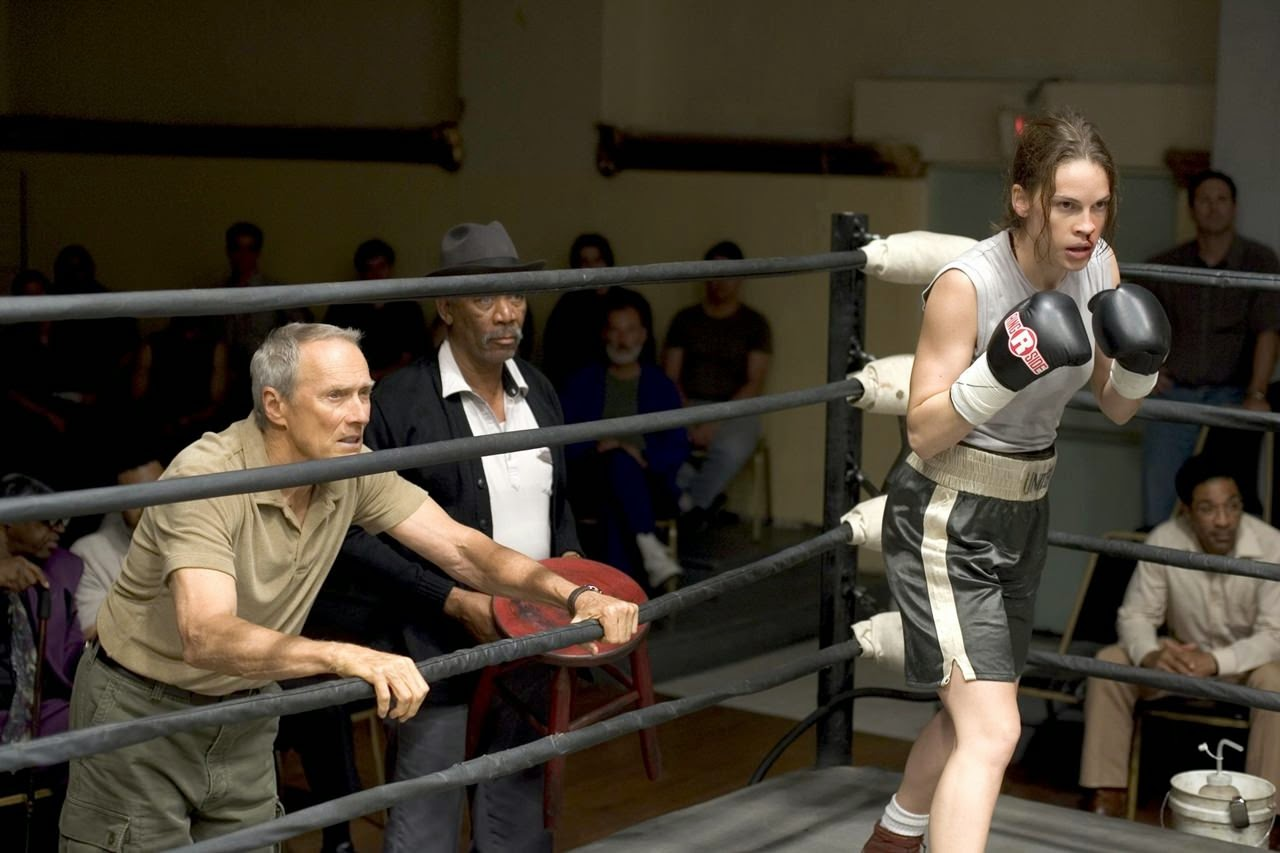 million dollar baby-clint eastwood-morgan freeman-hilary swank