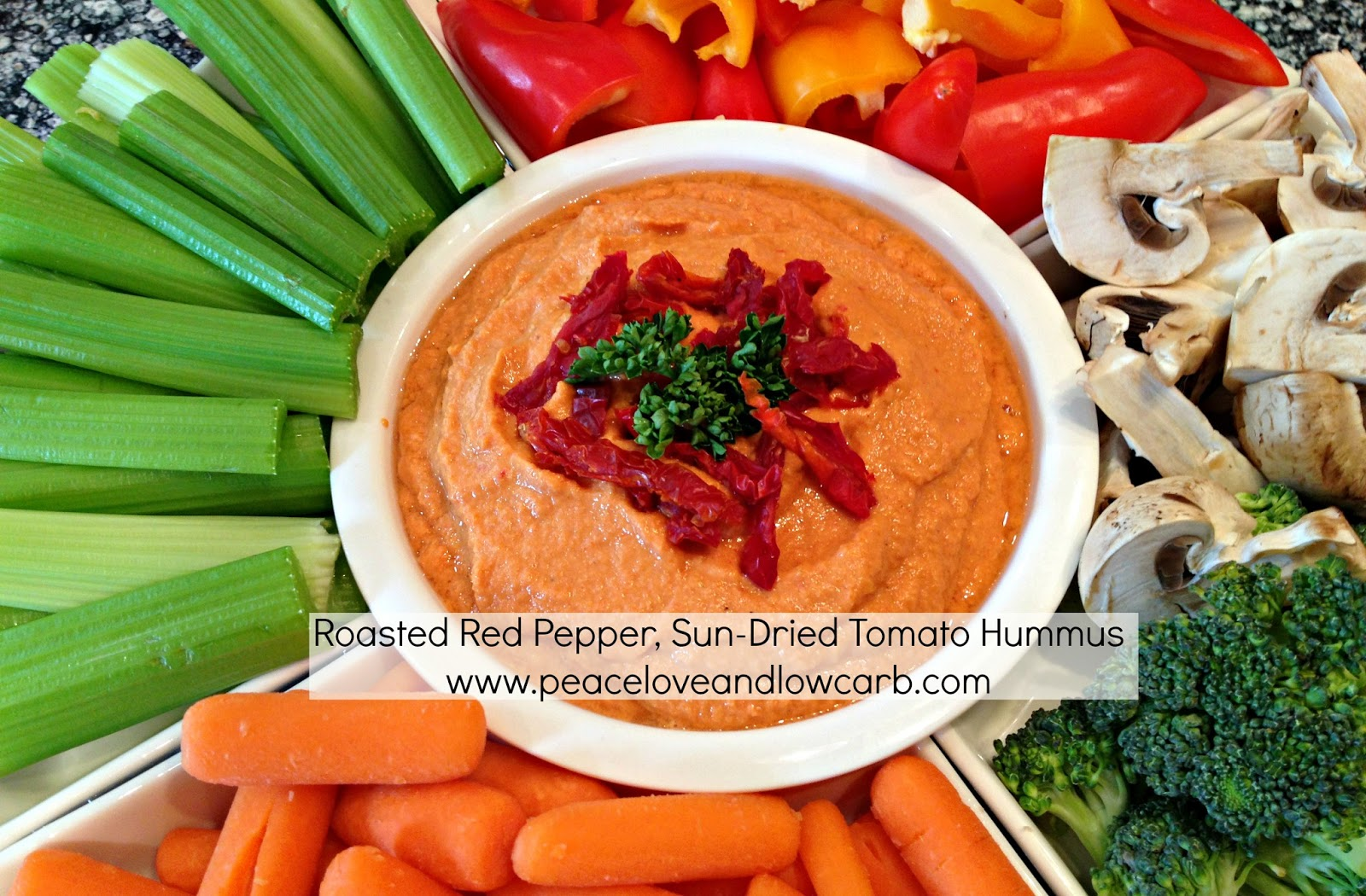 Roasted Red Pepper, Sun-Dried Tomato Hummus and my new VITAMIX!!!