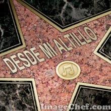 Mi estrella de la fama.