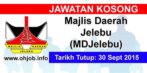 Jawatan Kerja Kosong Majlis Daerah Jelebu (MDJelebu) logo www.ohjob.info september 2015