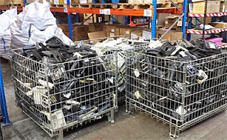 Disposal of telephone systems in bulk
