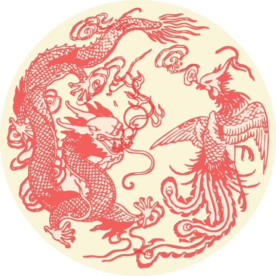 Excellent Vector Dragon and Phoenix 567 x 567 · 89 kB · jpeg