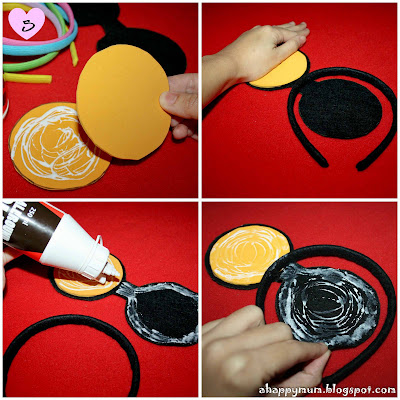 Tutorial para hacer diademas con orejas de Minnie y Mickey. - Ideas y