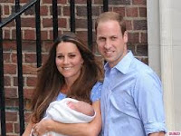 Kate Middleton, Prince William and their newborn