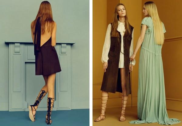 Zara woman primavera verano 2015 moda tendencia vestidos sandalias romanas